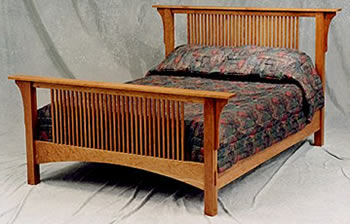 Craftsman bed swartzendruber furniture creations for Craftsman bed