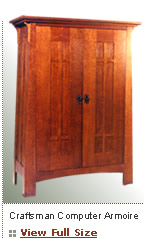 craftsmen computer armoire Craftsman Furniture